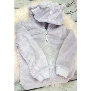Teddy cozy hooded bear ears toddler girl jacket 2T